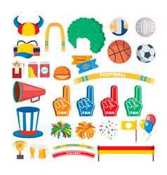 sport team supporters tools set vector image
