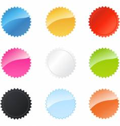 star badges vector image