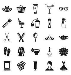 Toiletry icons set simple style vector