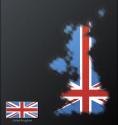 United Kingdom map vector image