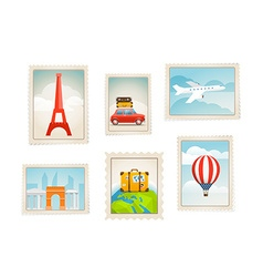 Different post stamps set vector
