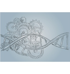 Dna and gears vector