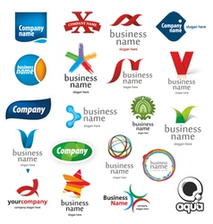 Branded collection of logos vector