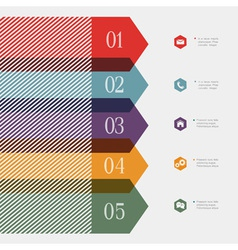 Creative banner arrow design for infographics vector image