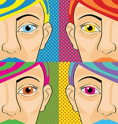 Pop art women vector