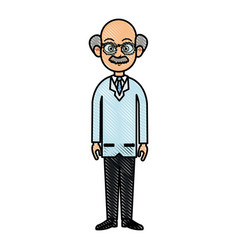 Drawing doctor man adult healthy vector