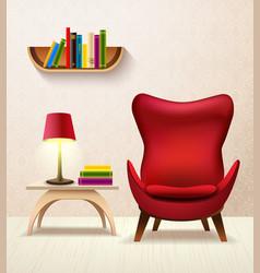 room cartoon interior vector image