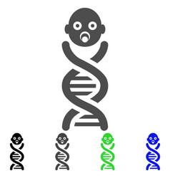 Baby genes icon vector