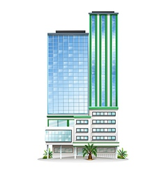 A tall commercial building vector