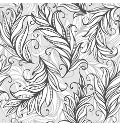 Seamless pattern with amazing feathers vector