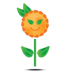 Orange flower on white background vector
