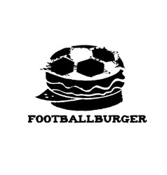 Football burger vector