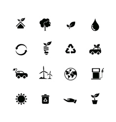 Set of ecology icon isolated on white background vector