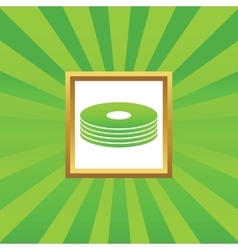 Disc pile picture icon vector