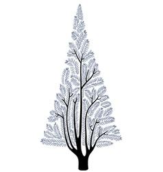 Stylized fur-tree vector