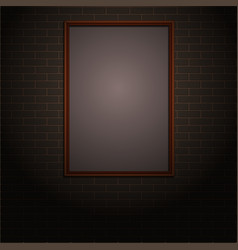 Brick wall with frame vector