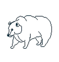 Pixel bear vector