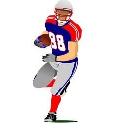 al 0925 american football 01 vector image