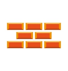bricks wall construction icon vector image