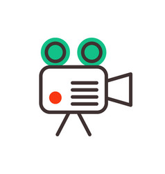 Camera video optic objective retro equipment vector