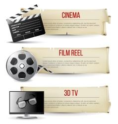 cinema banners vector image vector image