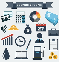 Colorful Economy icon set vector image