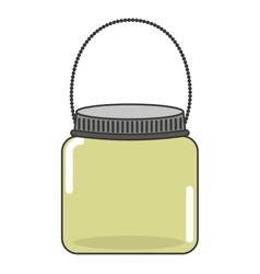 cute mason jar isolated icon vector image vector image