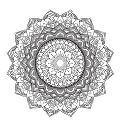 Decorative mandala design 3005 vector