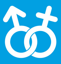 Gender symbol icon white vector