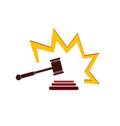 hammer court in color art vector image