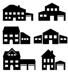 Houses7 vector image