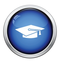 Icon of Graduation cap vector image
