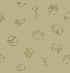 kitchen outline isometric pattern vector image