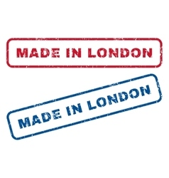 Made in london rubber stamps vector