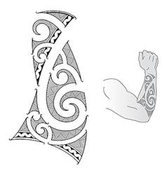 Maori forearm vector image vector image