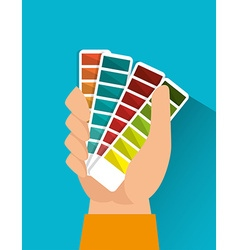 Pantone colors graphic vector image
