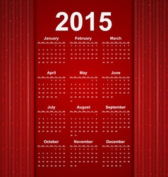 Red creative calendar 2015 year vector