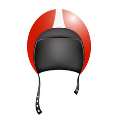 Retro motorcycle helmet in red design vector