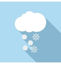 Snow and hail icon flat style vector