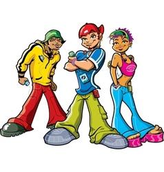 Urban teenagers vector