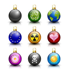 Various Christmas balls vector image vector image