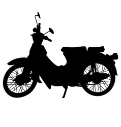 vintage motorcycle silhouette vector image vector image