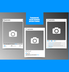 White photo frame for social network picture with vector