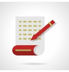 Writing articles abstract flat color icon vector