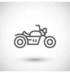 Chopper motorcycle line icon vector image