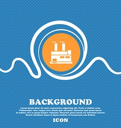 Factory icon sign blue and white abstract vector