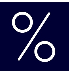 Percent or interest icon of set white outlines vector