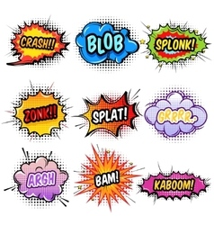 Comic sound effects set vector