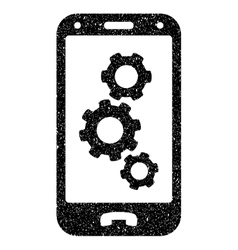 Smartphone settings grainy texture icon vector