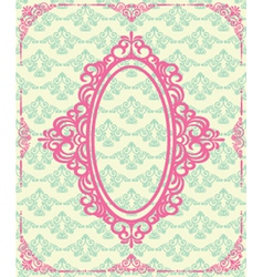 Ornate frame design vector